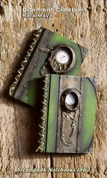 Steampunk Notebooks 1863 by Diarment