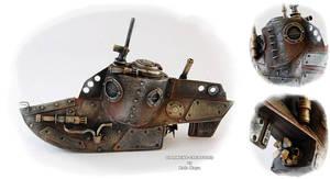 Steampunk Submarine by Diarment