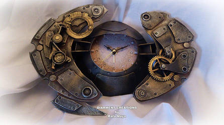 Steampunk Clock Crab by Diarment