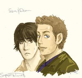 sam-n-dean. by ryuuenx