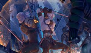 The battle of kaer morhen by whoareuu