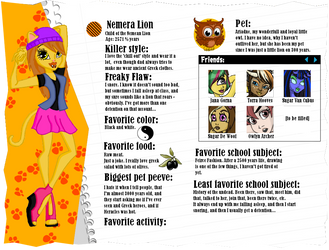 MH profile: Nemera Lion by PercyJacksonFangirl1