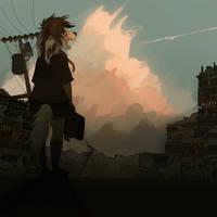 walk in the ruins by ev-oo