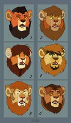 Lion Adoptables (1/6 Open) by Karibu99