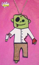 Cute Zombie necklace by fifis-secret