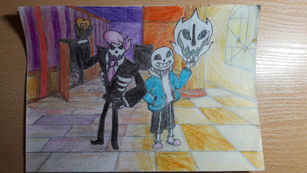 Sans And Lewis by Baksh329