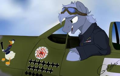 Polish 303 Fighter Squadron/Zumbach 'Donald Duck' by Rutkotka