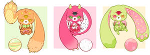 Sympop Tropical Fruit Adoptable Batch #11 CLOSED by Voodoo-Doll-Art