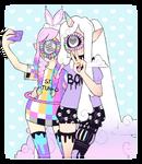 Girlfriends by Voodoo-Doll-Art