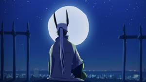 Ugo facing the moon by DICE-Shimi