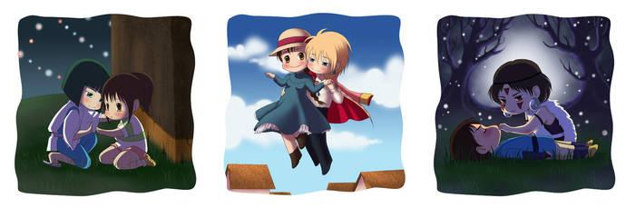 Ghibli love by alexielart