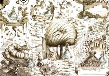 Alice in Wonderland by alexielart