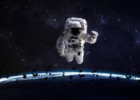 Astronaut in outer space by VadimSadovski