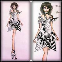 blank and white fashion folds (contest) by BethzAbonitz