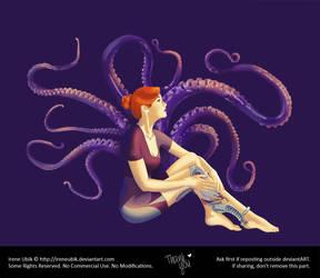Purple Espiral aka LadyKraken (Original Character) by LadyKraken