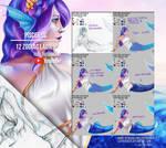 Pisces OC - 12 Zodiac Ladies - Steps+Video by LadyKraken