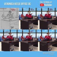 Veronica Reese Office OC-Commission +Youtube Video by LadyKraken