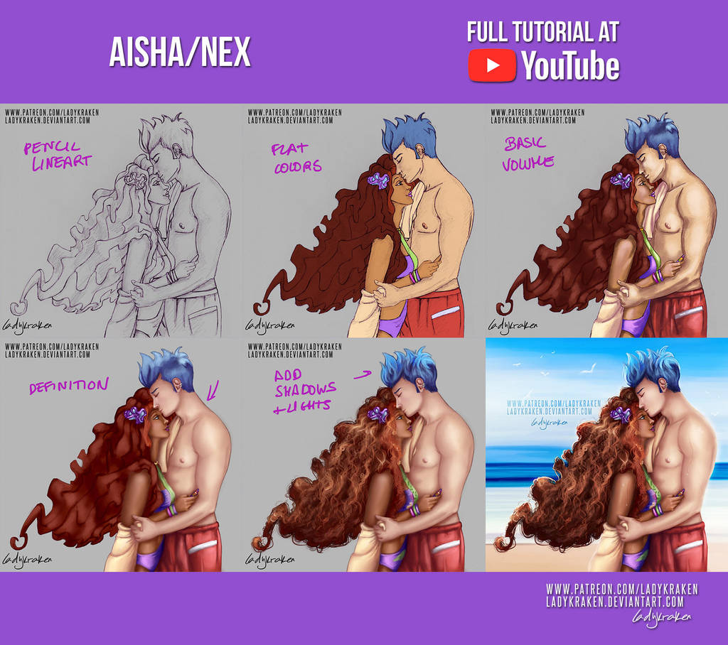 Aisha/Nex - Commission +Youtube Video by LadyKraken