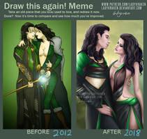 Draw this again! Meme - Loki/Lady Loki 2012 - 2018 by LadyKraken