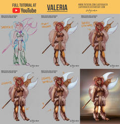 Valeria OC - Commission +Youtube Video by LadyKraken