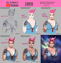 Zarya Overwatch - Commission +Youtube Video by LadyKraken