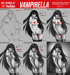 Vampirella - 2 Versions +Youtube Video by LadyKraken