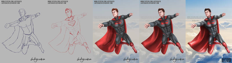 Superman (Zal-El) - Step by Step + Video by LadyKraken