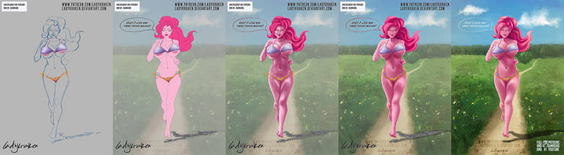 Pinkie Pie Running Bikini - Step by Step + Video by LadyKraken