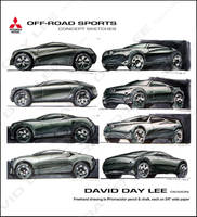 Mitsubishi Off-Road Sports Car by daviddaylee