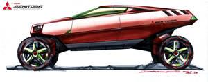 Mitsubishi Off-Road Supercar by daviddaylee