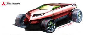 Mitsubishi Off-Road Supercar 2 by daviddaylee
