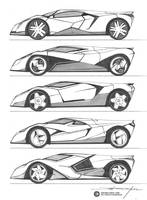 Mid Engine Sports Car by daviddaylee