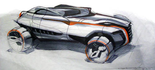 Rally Racer Sketch by daviddaylee