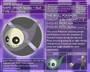 Fakemon DEX: Spookull by optimisticxpessimist