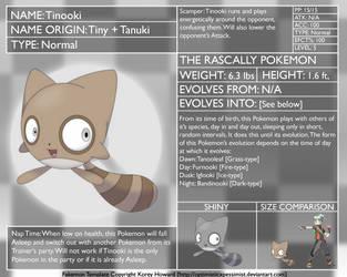 Fakemon DEX: Tinooki by optimisticxpessimist