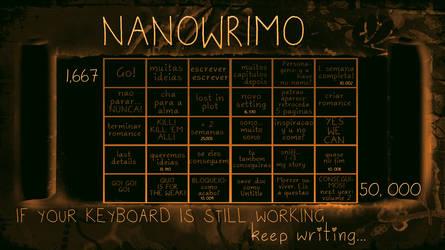 Nanowrimo Calendar by Adeselna