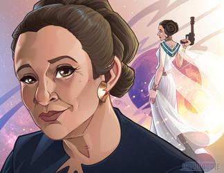 Leia Organa by Javadoodle