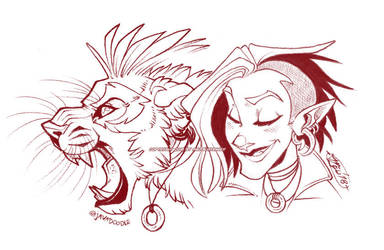 Minx Headshot Doodles by Javadoodle