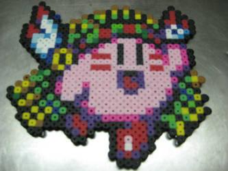 Kirby perler by Birdseednerd