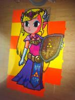 Zelda perler pre-iron by Birdseednerd