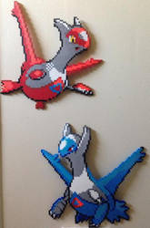Latios and Latias perler by Birdseednerd