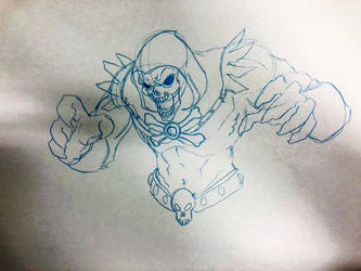 Roughing up Skeletor  by lordsmiley