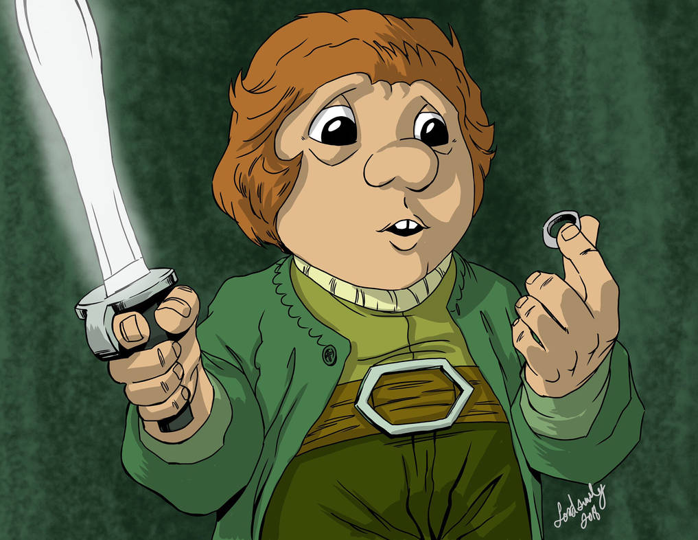 Bilbo and the ring by lordsmiley