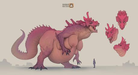 PINK back Kaiju by BIGBIG-on-DA