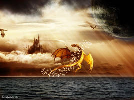 Fantasy ocean scene by pskate1