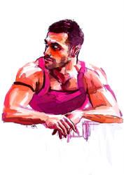 pink man by SeanHe