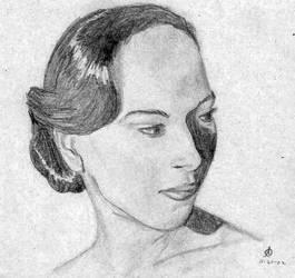 Greyscale Portrait by dream-chylde