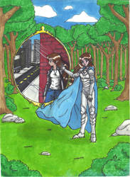 The Mirror- Marker Drawing 2006 by dream-chylde
