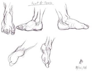Anatomy Study-Feet by dream-chylde