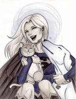 Supergirl, Krypto and Streaky by Protokitty